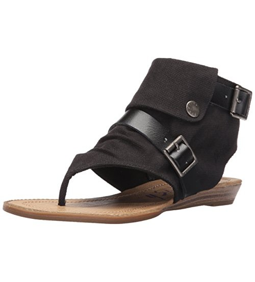 Blowfish Blume Black Womens Side Zip Sandals Shoes