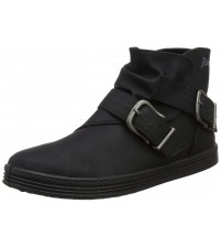 Blowfish Frappe Black Womens Side Zip Ankle Boots