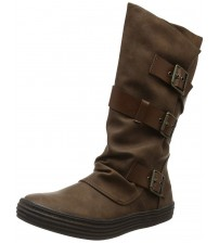 Blowfish Orlando Coffee 3 Strap Womens Mid Calf Boots Shoes