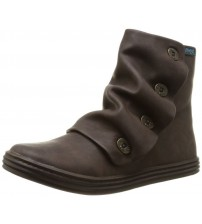 Blowfish Rabbit Brown Taxas PU Womens Side Zip Ankle Boots