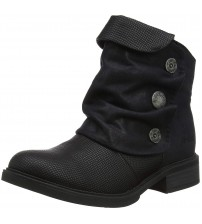 Blowfish Vynn Black Womens Side Zip Ankle Boots