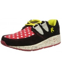Brakeburn Iggy Black Red Yellow Womens Lo Top Trainers Shoes Boots