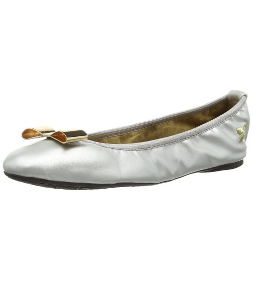 Butterfly Twists Chloe Silver Black Womens Ballerinas Flats Shoes