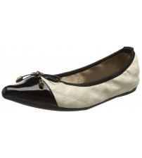 Butterfly Twists Holly Cream Black Womens Ballerinas Flats Shoes