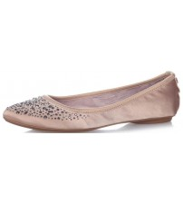 Butterfly Twists Janey Nude Crystals Womens Ballerinas Flats Shoes