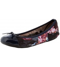 Butterfly Twists Olivia Navy Blurred Floral Womens Ballerinas Flats Shoes