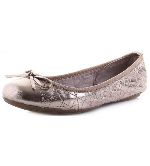 08b7ae72645a Butterfly Twists Olivia Rose Gold Womens Ballerinas Flats Shoes