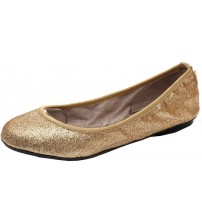 Butterfly Twists Sophia Rose Gold Glitter Womens Ballerinas Flats Shoes