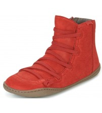 Camper Peu Cami 46104 Red Womens Hi Leather Trainers Boots
