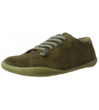 Camper Peu Cami Khaki Womens Leather Lo Trainers Shoes