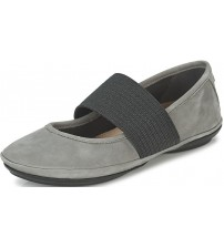 Camper Right Nina 21595 Grey Black Womens Leather Shoes