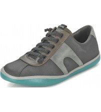 Camper Peu Slastic 18877 Grey Green Mens Leather Trainers Shoes
