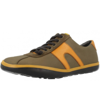 Camper Peu Slastic 18877 Khaki Yellow Mens Leather Trainers Shoes