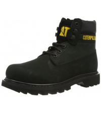 Caterpillar Colorado Black Yellow Women Leather Boots