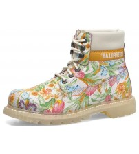 Caterpillar Colorado Flowers White Multi Women Leather Boots