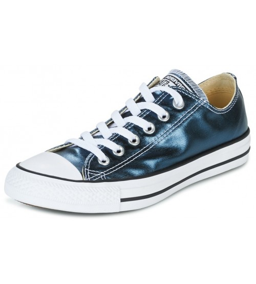 Converse Chuck Taylor All Star Blue Metallic Womens Lo Trainer