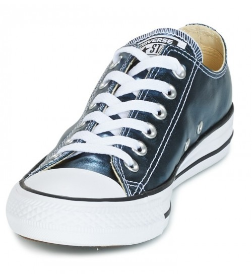 6e66b7682ac9 Converse Chuck Taylor All Star Blue Metallic Womens Lo Trainer