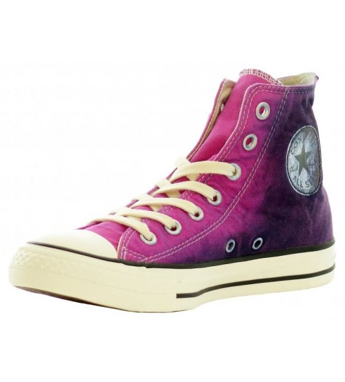 Converse Chuck Taylor All Star Pink Blue Seasonal Hi Womens Trainers
