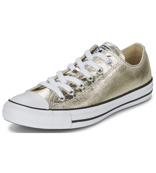 Converse Chuck Taylor All Star Gold White Lo Womens Trainers