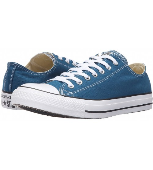 Converse Chuck Taylor All Star Blue Lagoon Canvas Ox Trainers