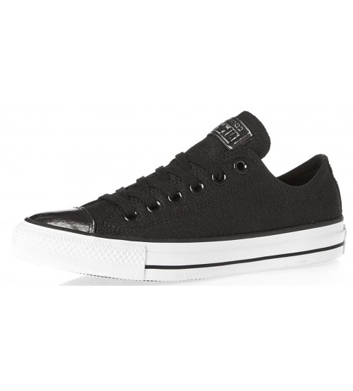 b4d045f38673 Converse Chuck Taylor All Star Black Bronze Leather Womens Trainers