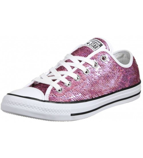 Converse Chuck Taylor All Star Pink Sequins Womens Trainers