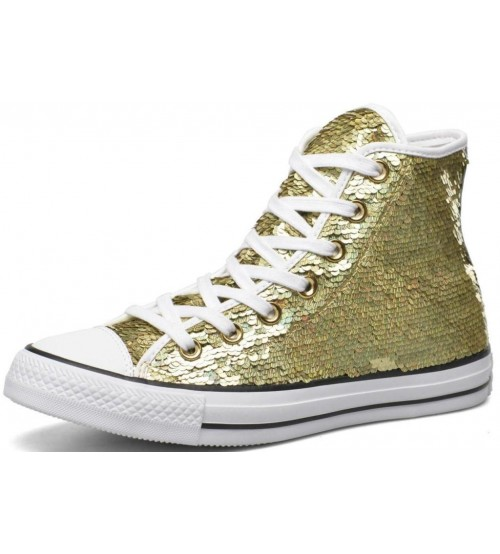 Converse Chuck Taylor All Star Gold Sequins Womens Trainers