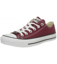 Converse Chuck Taylor All Star Maroon White Ox Lo Unisex Trainer