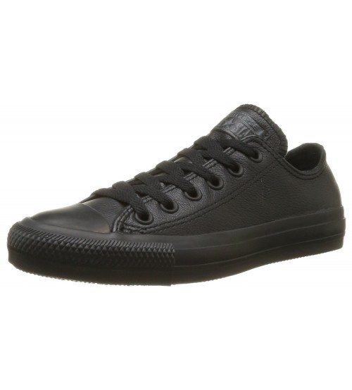 Converse Chuck Taylor All Star Black Lo Unisex Leather Trainers