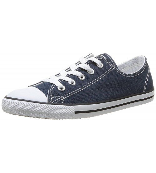 Converse Chuck Taylor All Star Dainty Ox Navy White Womens Trainers aafc59d39