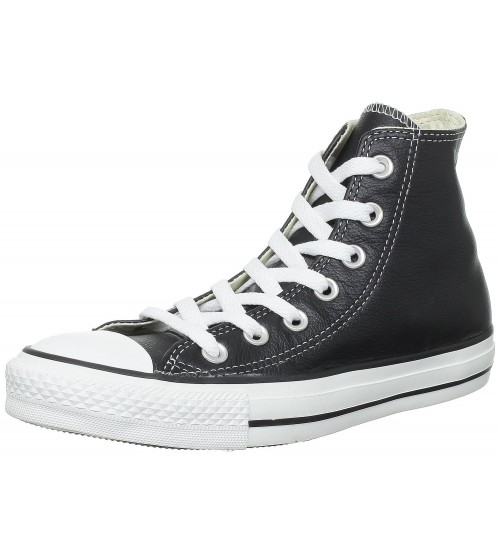 Converse Chuck Taylor All Star Black White Hi Unisex Leather Trainers aff1457e2
