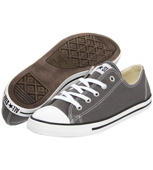 64dae3c2f46e4f Converse Chuck Taylor All Star Lean Ox Charcoal White Women Trainers