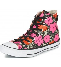 Converse Poppy Red Pink White Hi Womens Trainers