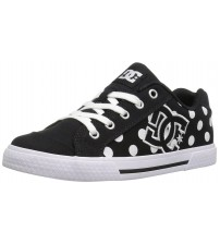 DC Chelsea TX SE Black White Canvas Womens Skate Trainers