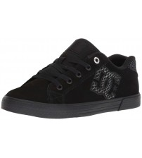 DC Chelsea TX SE Black Silver Black Womens Skate Trainers