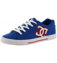 DC Chelsea TX Blue Red White Womens Skate Trainers