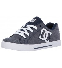 DC Chelsea TX SE Chambray Canvas Womens Skate Trainers