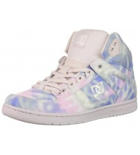 DC Pure Hi Top TX SE Blue Pink Womens Skate Trainers