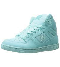 DC Rebound Hi Aqua Womens Leather Skate Trainers Boots