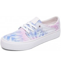 DC Trase TX SE Blue Pink Multi Canvas Womens Trainers Shoes