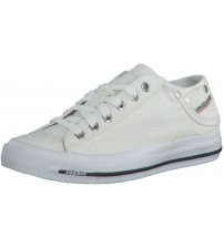 Diesel Exposure iv Low W White Glitter Womens Canvas Trainers