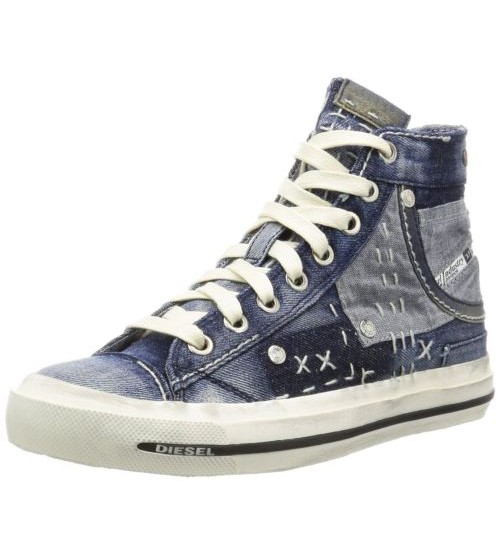 Diesel Exposure IV W Denim Multi Womens Hi Canvas Trainers Boots