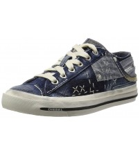 Diesel Exposure iv W Indigo White Womens Denim Trainers Shoes