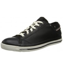 Diesel Exposure iv Black White Women Leather Top Trainers