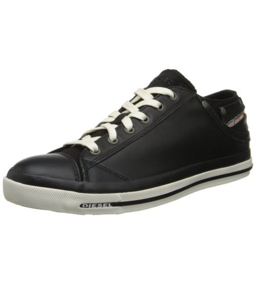 Diesel Exposure iv Black White Women Leather Top Trainers 94763c68e3b