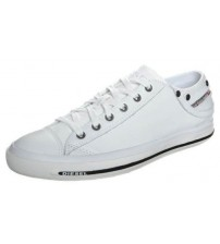 Diesel Exposure iv White Black Women Leather Lo Trainers