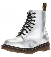 Dr Martens 1460 Silver 8 eye Womens Leather Boots