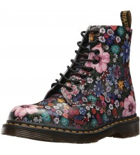 Dr Martens 1460 Wanderlust Black Floral Womens Leather Boots