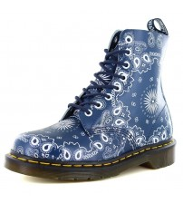 Dr Martens Pascal 1460 Navy Bandanal Leather 8 eyelets Womens Boots