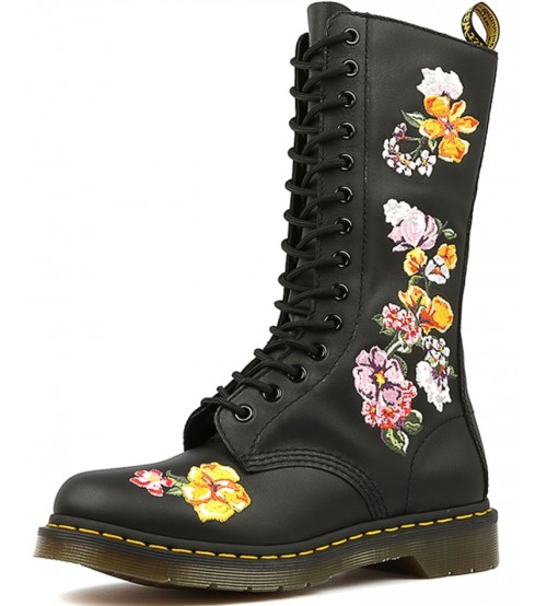 Dr Martens 1914 Vonda II Black Floral Leather Womens Boots